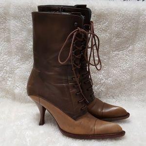 Miu Miu Prada Spectator Victorian boots